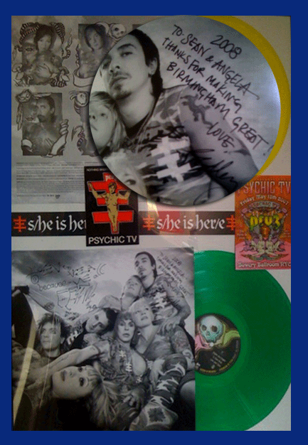 Psychic TV signed vinyl