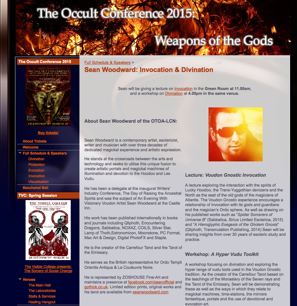 SW - The Occult Conference Glastonbury